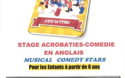 Stage ACROBATIE/COMÉDIE en ANGLAIS